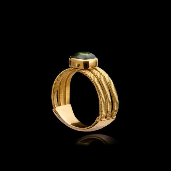 Χειροποίητο Δαχτυλίδι σε Χρυσό με Τουρμαλίνη