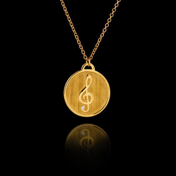Μενταγιόν μουσικό κλειδί