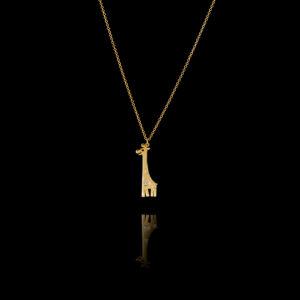 Μενταγιόν καμηλοπάρδαλη χρυσό