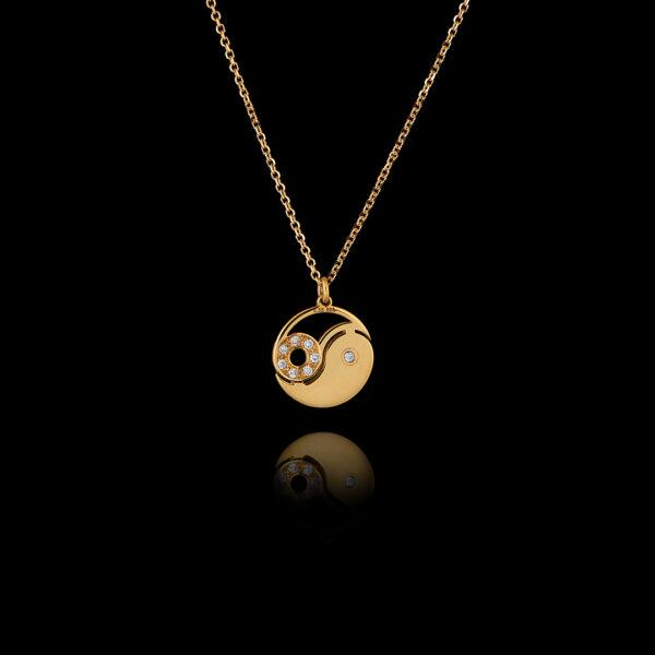 Μενταγιόν Yin Yang σε χρυσό