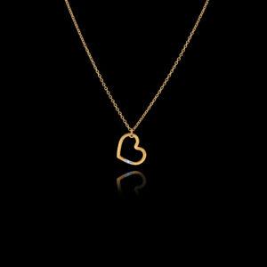 Μενταγιόν καρδιά σε χρυσό με διαμάντι