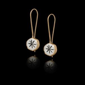 Σκουλαρίκια Ιδεογράμματα σε Ασήμι και Χρυσό