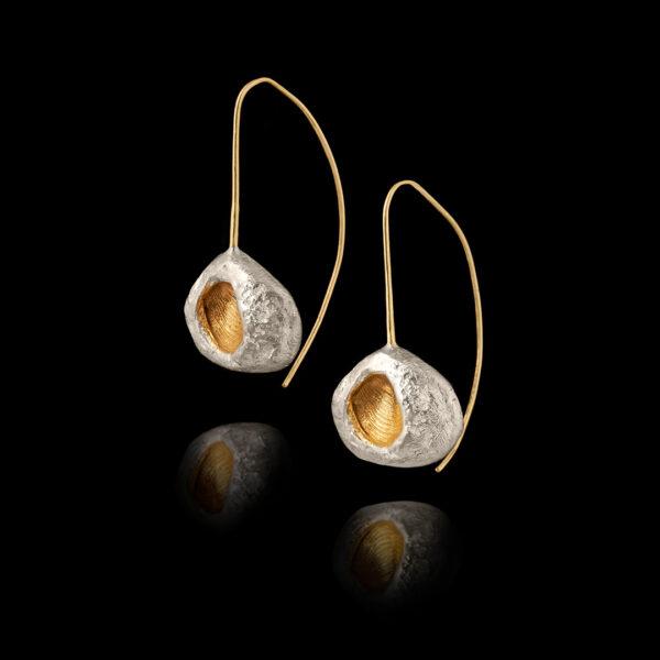 Σκουλαρίκια Απολιθώματα σε Ασήμι και Χρυσό