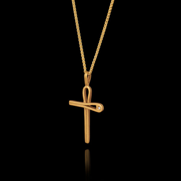 Χειροποίητος Σταυρός σε Χρυσό με Διαμάντι