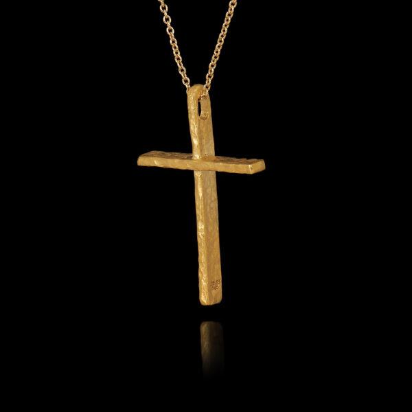 Χειροποίητος Σταυρός σε Χρυσό