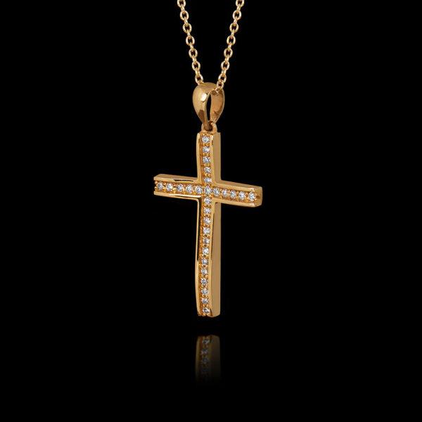 Σταυρός σε Χρυσό με Διαμάντια
