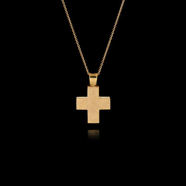 Σταυρός Διπλής Όψης σε Χρυσό - CR94N