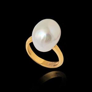 Δαχτυλίδι σε Χρυσό με Μαργαριτάρι - DA163N